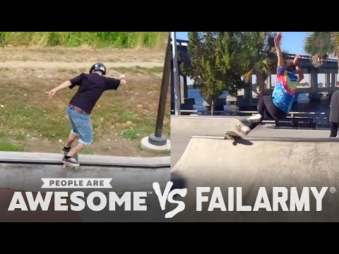 Skateboarding, Skiing & More | People Are Awesome Vs. FailArmy!