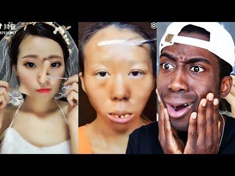 Joseph Royal's reaction to makeup tranformations